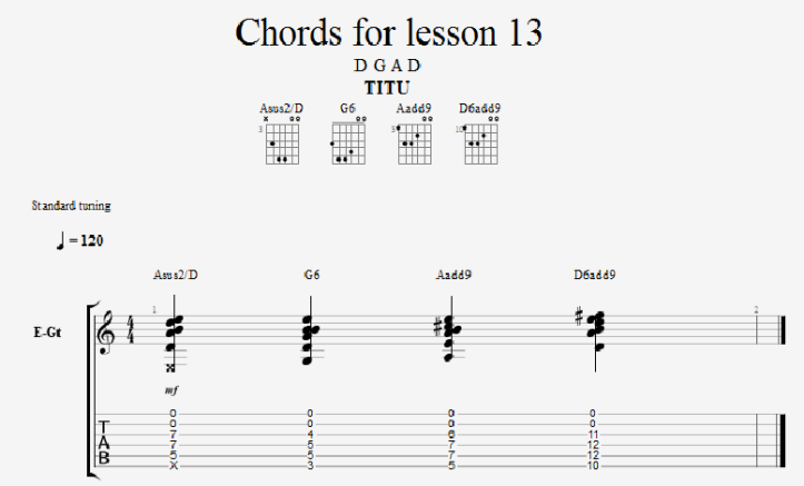 barre chords for lesson 13